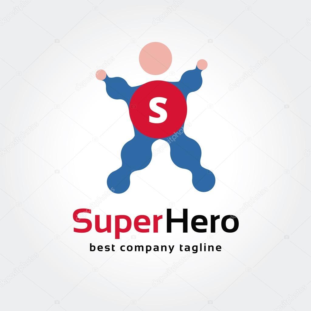 Abstrakte Superheld Vektor Logo Symbol Konzept. Logo Vorlage für ...