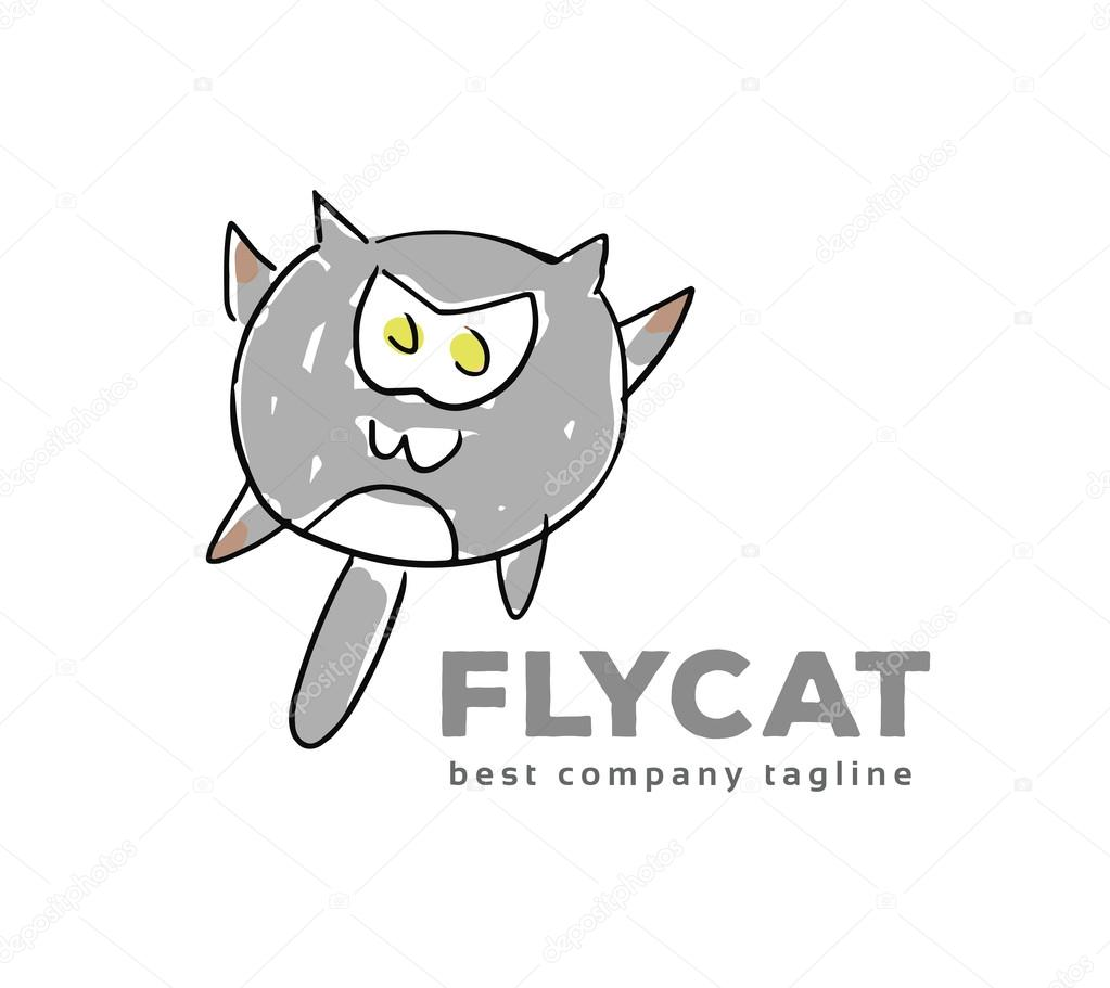Abstraktes Vektor Katze Monster Logo Symbol Konzept. Logo Vorlage ...