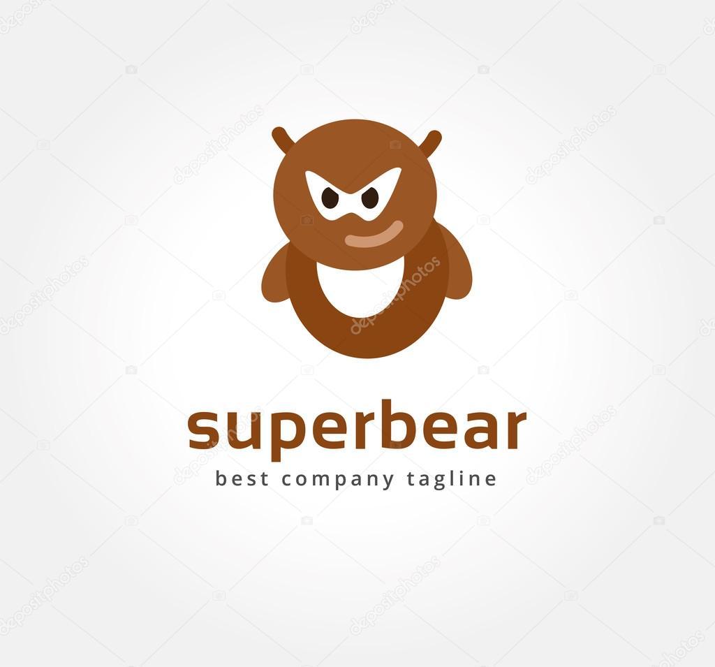 Abstraktes Vektor Bär Monster Logo Symbol Konzept. Logo Vorlage für ...