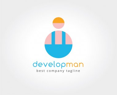 Abstract vector developer logo icon concept. Logotype template for branding and corporate design
