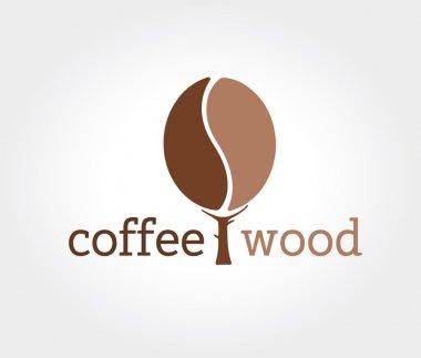 Abstract vector coffe tree  logo icon concept. Logotype template for branding