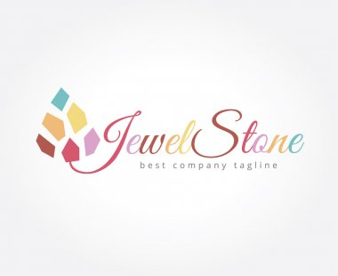 Abstract jewel stone logo icon concept. Logotype template for branding