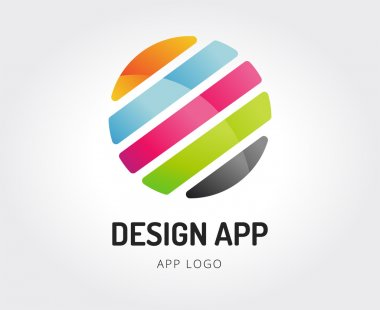 Abstract design studio vector logo template for branding
