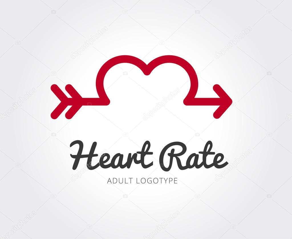 Abstrakte valentin vektor Logo Vorlage für branding und design ...