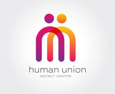 Abstract human logo