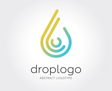 Abstract water drop logo