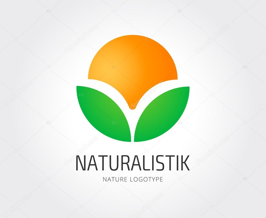 Abstract vector nature logo template for branding and design