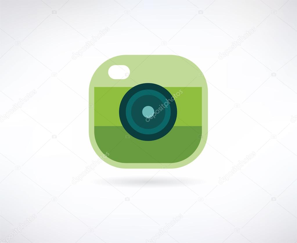 Photo App Vector Icon Similar To Instagram Camera Lense And Shot