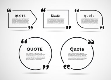 Quote text bubble. Commas, note, message and comment. Vector stock element for design stock vector