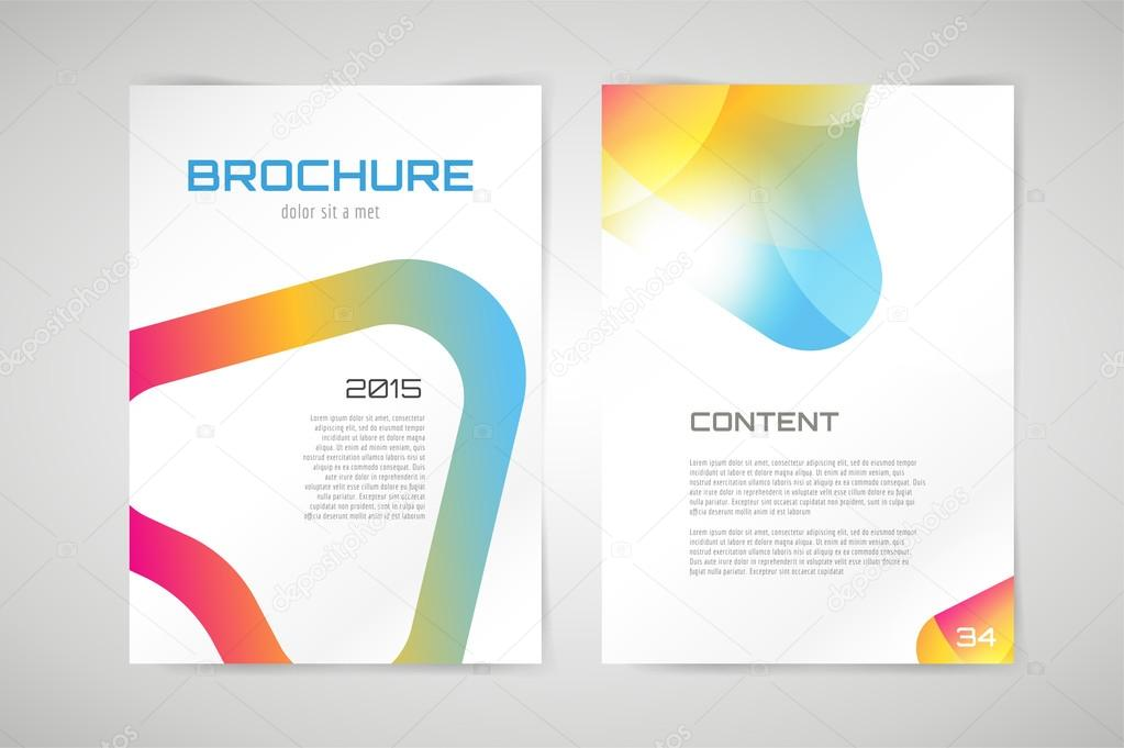 Design Paper Templates | Vector Brochure Template Abstract Arrow Design And Creative