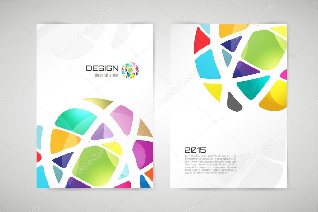 Vector Globus Broschüre Vorlage Abstrakte Kreis Design Und