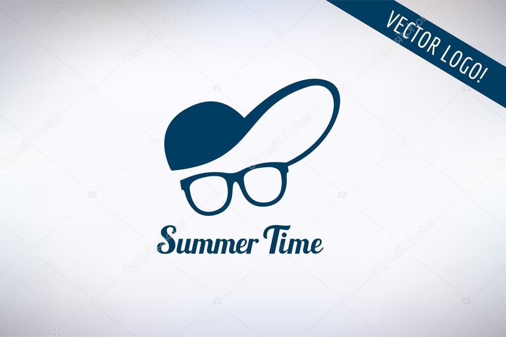 Face with glasses and cap logo icon template. Hipster 6f2b7d9b92d