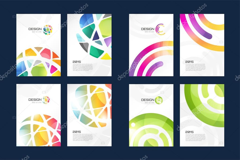 vector globe brochure template set abstract arrow design and
