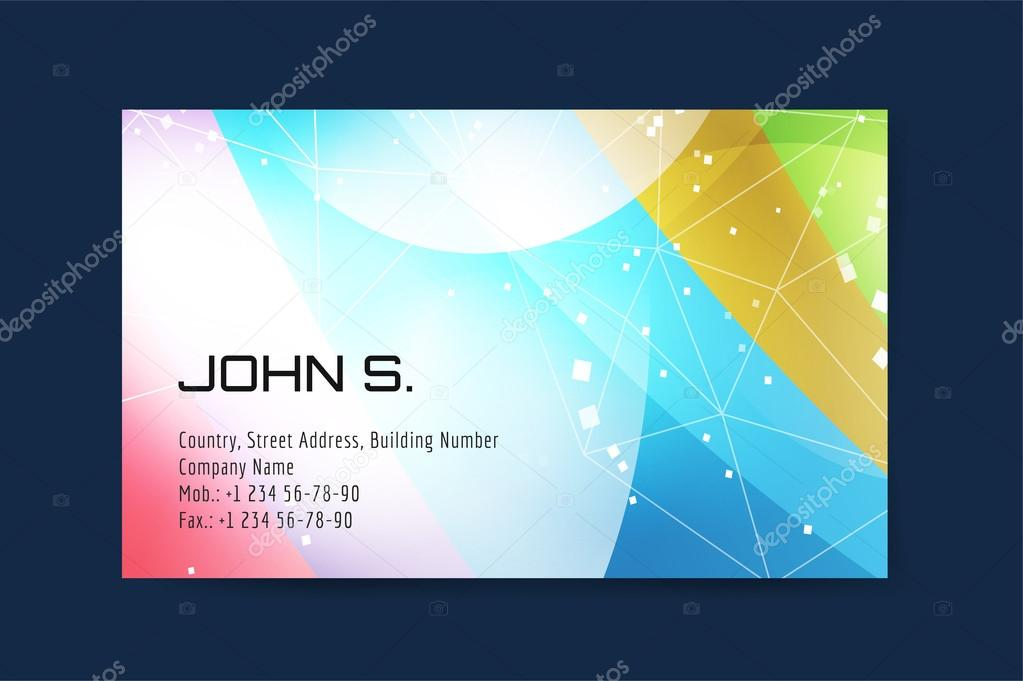 Vector business card template globe and ring logo icons vetor de globe and ring logo icons abstract geometric low poly design and creative identity cards plank paper print business card design vetor por adekvat reheart Images