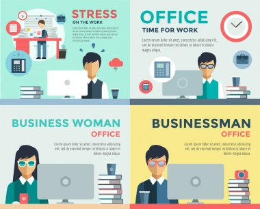 New job search and stress work infographic