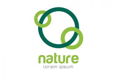 Green nature care togetherness logo