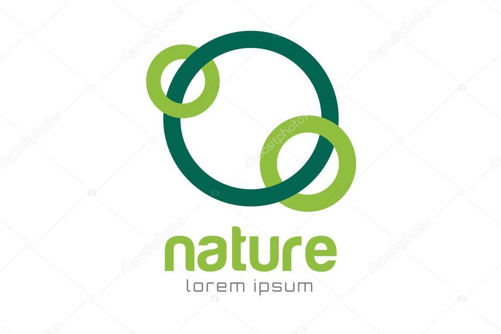Green Nature Care Togetherness Logo Stock Vector Adekvat 81429808