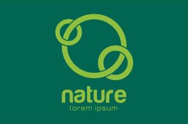 Green nature care togetherness logo