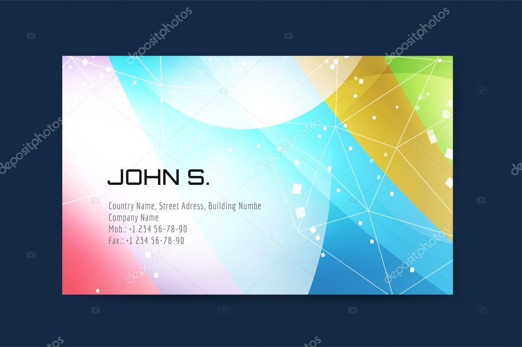 Business Card Template Business Card Design Abstract Triangle Design And Creative Idea Blank Print Design Company Identity Abstract Triangle Background Premium Vector In Adobe Illustrator Ai Ai Format Encapsulated