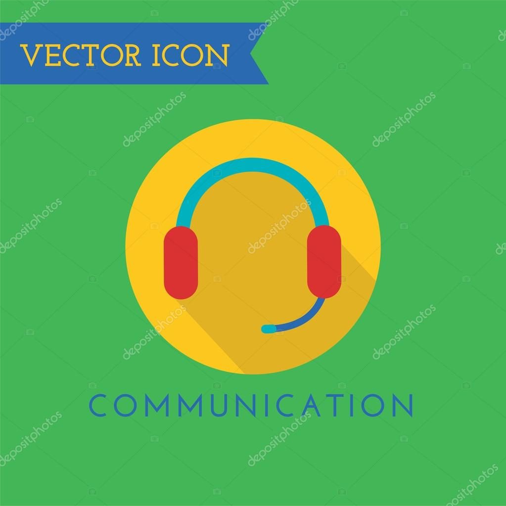 Headphone icon logo. Sound, speaker, studio