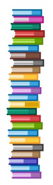 Books vector logo icons set scyscraper