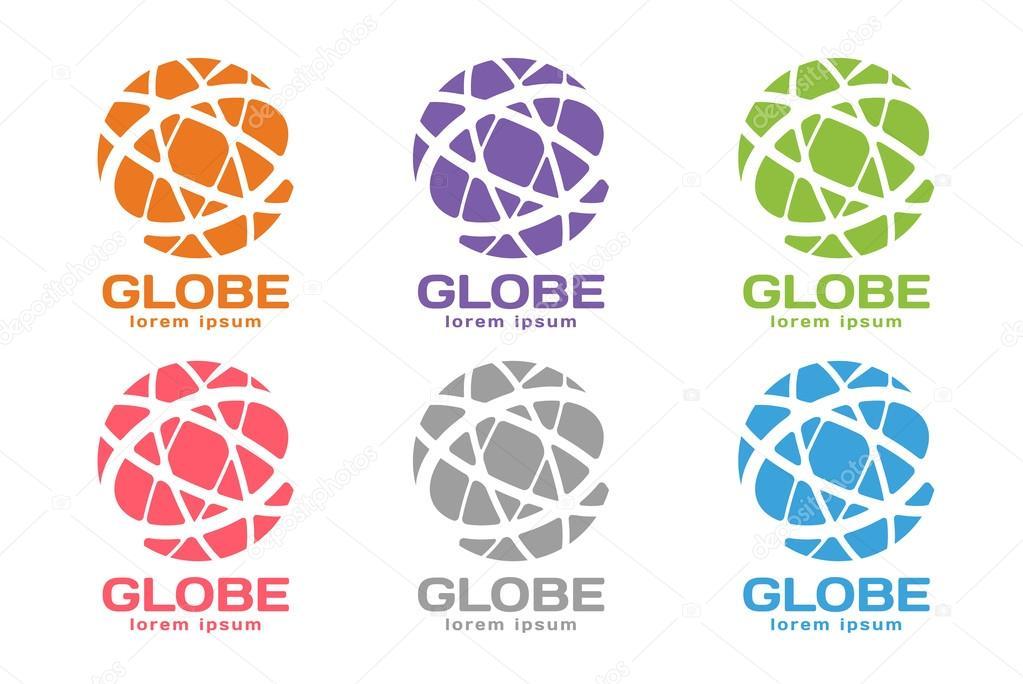 Abstract Earth Logo Globe Logo Icon Stock Vector Adekvat 82088822