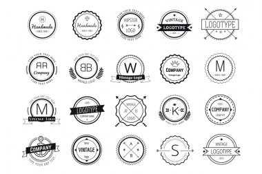 Massive logo badges template bundle