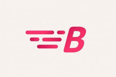Fast line logo B monogram icon