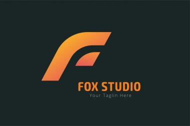 Fox or lion face logo vector template