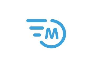 Fast line circle logo M rings monogram