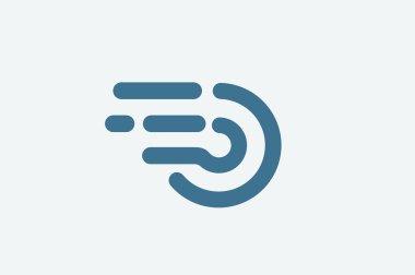 Fast line circle logo