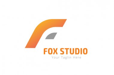 Fox or lion abstract face logo vector template