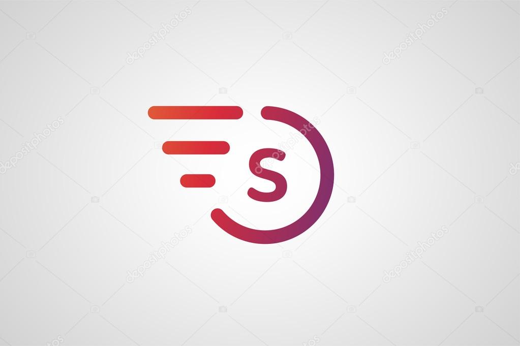 s letter logo with a wing on red pics stock photos all sites