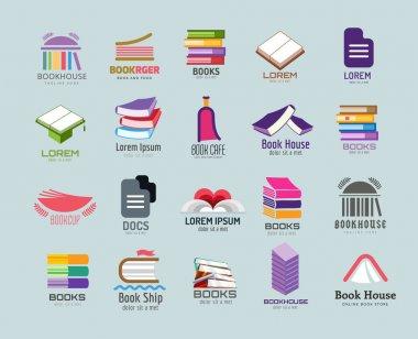 Book vector logo template set