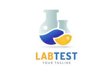 Laboratory equipment vector logo