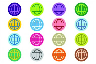 Globe Earth logo vector icon set