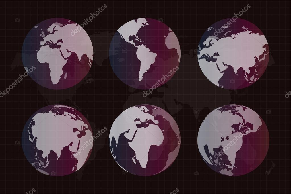 World vector map globe earth texture stock vector adekvat world vector map globe earth texture stock vector gumiabroncs Image collections