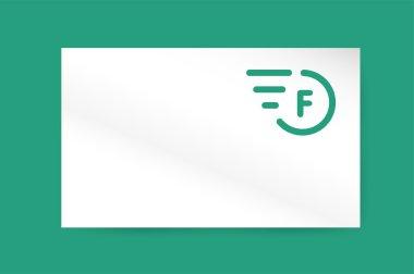 Fast line vector letter logo monogram business card