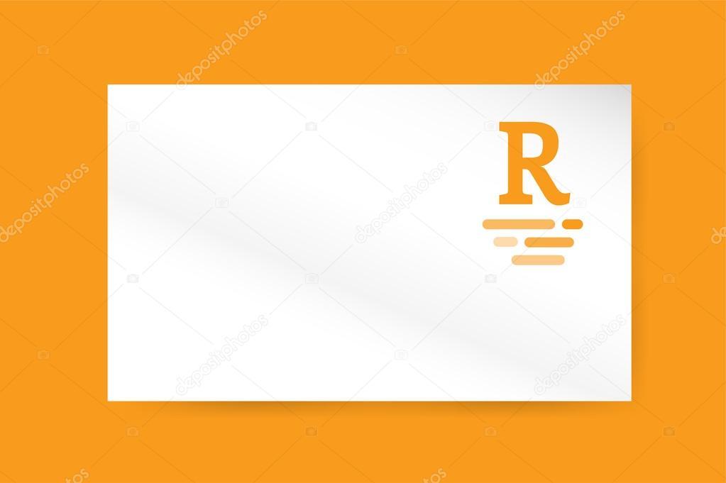 R royal hotel vintage letter logo vector template — Vetor de Stock