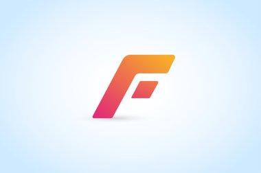 Fast line vector letter icon logo monogram