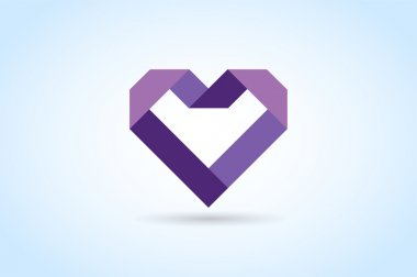 Heart icons vector logo