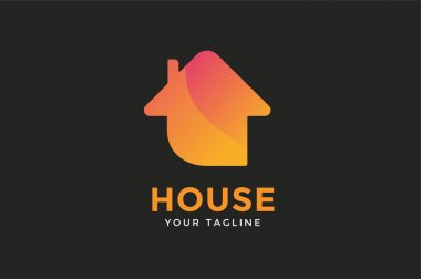 Green house home vector logo