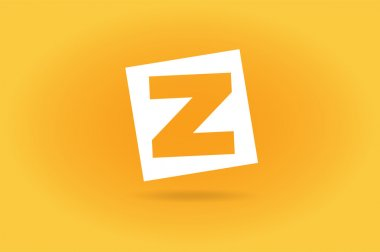 Abstract Z character vector logo icon template