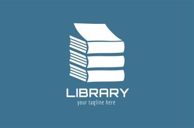 Books vector logo icon