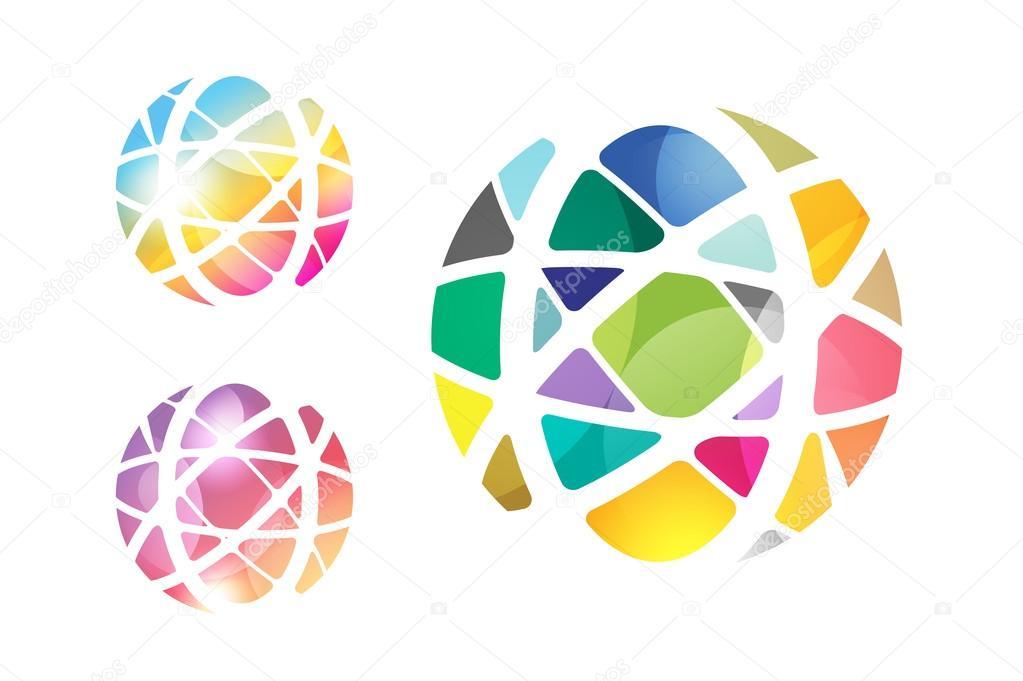 Vector abstract Erdkugel Logo-Design — Stockvektor © adekvat #88111620