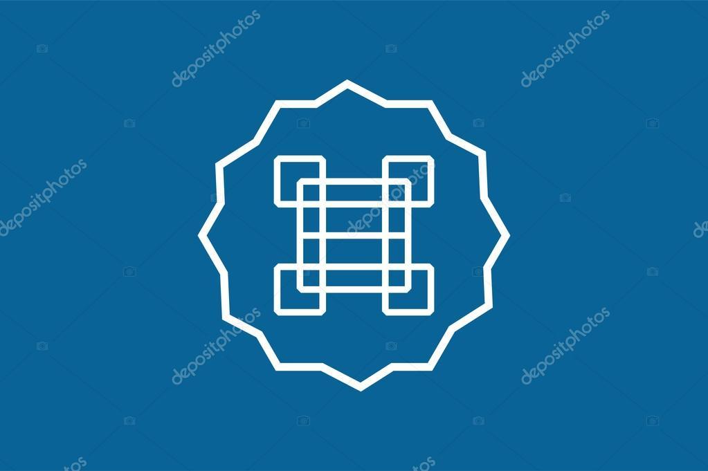 Arabisch-Logo Vektor abstrakte Monogramm-Vorlage — Stockvektor ...