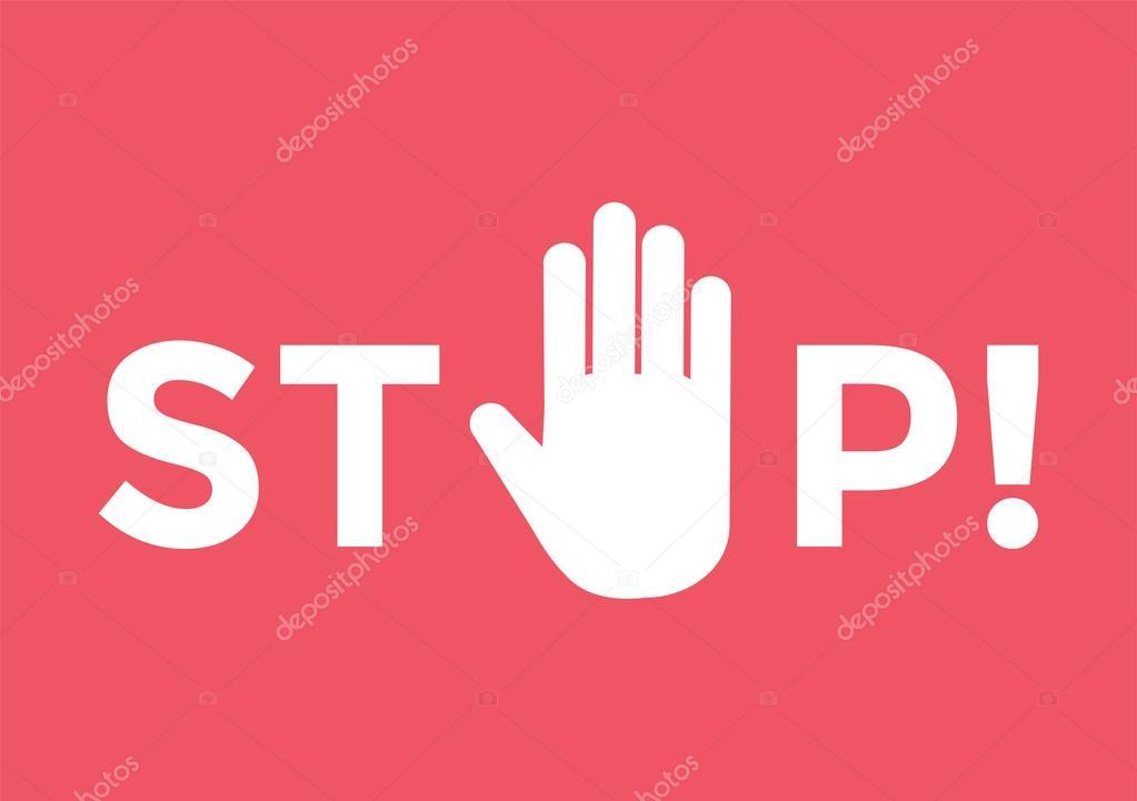 Stop Hand Sign Symbol Stock Vector Adekvat 89431438