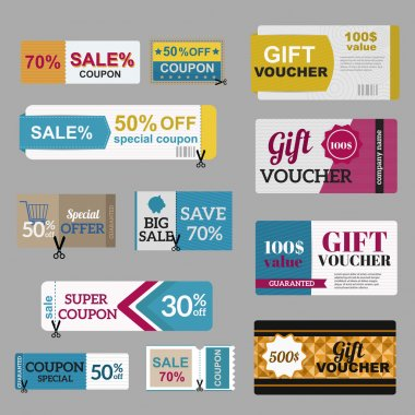 Gift vouchers template collection