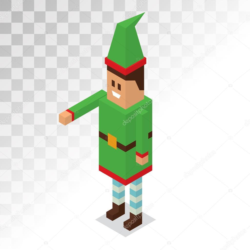 Père Noël Elfe Garçon De Bande Dessinée Daide Image