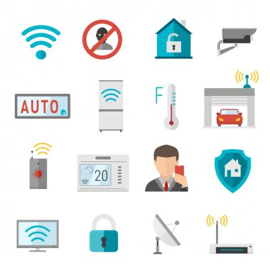 Remote home control system Smart House vector illustration. Smart House remote control. Smart House icons set. Smart House vector icons abstract technology vector. Smart House illustration icons clip art vector